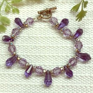 Swarovski Purple Crystal Bracelet